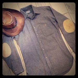 Pendleton Gray wool Button down shirt small